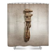 Adjustable Wrench Right Face Shower Curtain