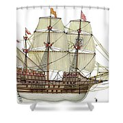 Adler Von Lubeck Shower Curtain