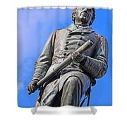 Admiral David Farragut In Farragut Square Shower Curtain
