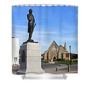 Admiral Lord Nelson And Royal Garrison Church Shower Curtain