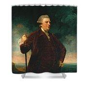 Admiral Viscount Keppel Shower Curtain