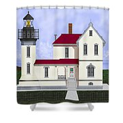 Admiralty Head Light Station Circa 1920 Shower Curtain
