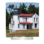 Admiralty Head Lighthouse Shower Curtain
