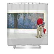 Admiring Fine Art Shower Curtain