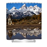 Admiring The Teton Sights Shower Curtain