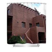 Adobe House At Red Rocks Colorado Shower Curtain