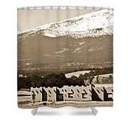 Adobe House Shower Curtain