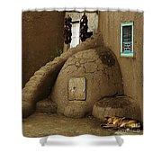 Adobe Oven Shower Curtain