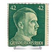 Adolf Hitler 42 Pfennig Stamp Classic Vintage Retro Shower Curtain
