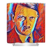 Adolf Hitler, Leaders Of Wwii Series.  Shower Curtain