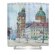 Adolf Hitler Painting Ordensplatzcu Shower Curtain