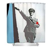 Adolf Hitler Saluting Full Figure Circa 1933-2016 Shower Curtain