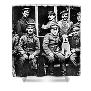 Adolf Hitler With  Fellow Soldiers From The List Regiment  Number Two Circa 1916 Shower Curtain