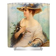 Adolphe Philippe Millot Shower Curtain