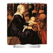 Adoration Fragment Shower Curtain