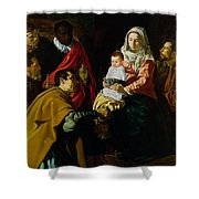 Adoration Of The Kings Shower Curtain