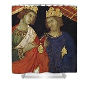 Adoration Of The Magi Fragment 1311 Shower Curtain