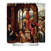 Adoration Of The Magi Shower Curtain