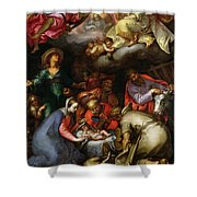 Adoration Of The Shepherds Shower Curtain