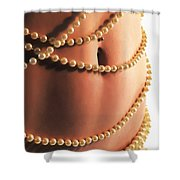 Adorned With Pearls Shower Curtain