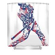 Adrian Beltre Texas Rangers Pixel Art 2 Shower Curtain
