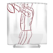 Adrian Peterson Cardinals Shower Curtain