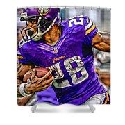 Adrian Peterson Minnesota Vikings Art Shower Curtain
