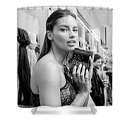 Adriana Lima Shower Curtain