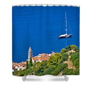 Adriatic Town Of Vis Sailing Destination Waterfront Shower Curtain