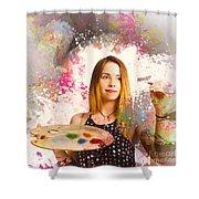 Adult Art Class Painter Shower Curtain