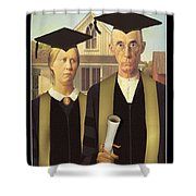 Adult Graduates Shower Curtain