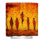 Adumu Shower Curtain