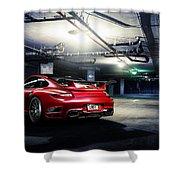 Adv1 Red Porsche 2 Shower Curtain