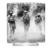Advance By John Springfield Shower Curtain