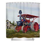 Advance Rumely Steam Traction Engine Shower Curtain