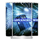 Advanced Whovians Alt Shower Curtain
