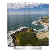Advancing Swell Shower Curtain