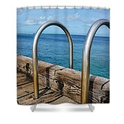 Adventure Into The Blue Shower Curtain