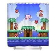 Adventure Kirby Shower Curtain