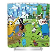 Adventure Time Shower Curtain