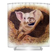 Adventurous Shower Curtain by Phyllis Howard