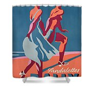 Advertisement For Bally Sandals Shower Curtain