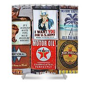 Advertising Signs Display Shower Curtain