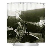 Amelia Earhardt, Ireland, Solo Atlantic Crossing, May 21st, 1932 Shower Curtain