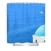 Aegean Blue Shower Curtain