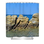 Aegean Rocks Shower Curtain