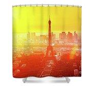 Sunset In Paris  Shower Curtain