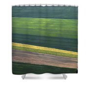 Aerial Abstract Shower Curtain