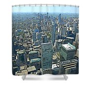 Aerial Abstract Toronto Shower Curtain