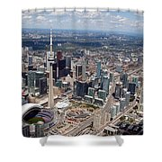 Aerial Of Downtown Toronto Ontario Shower Curtain